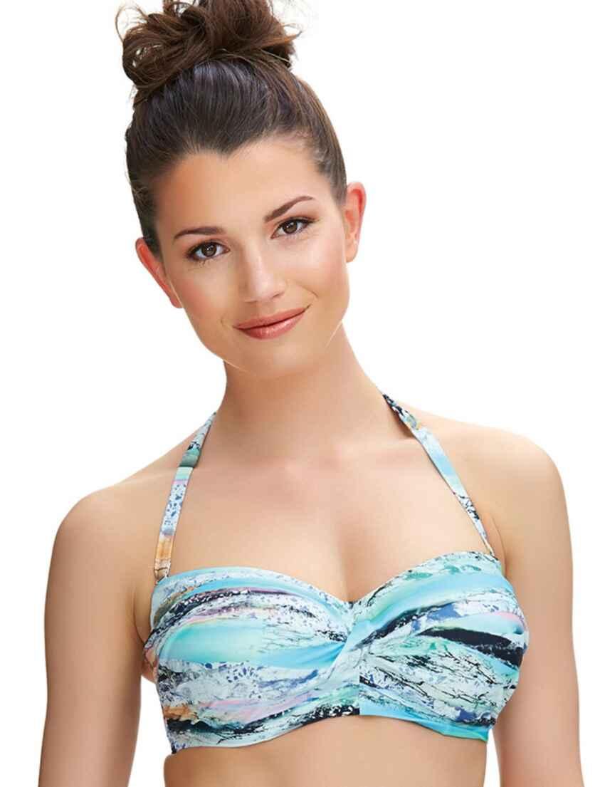 517411f83fd39 Outlet · 6335 Fantasie Kiruna Twist Bandeau Bikini Top Multi - 6335 Bandeau  Bikini Top