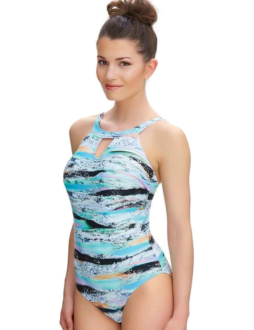 8b25d34b6413e Outlet · 6339 Fantasie Kiruna High Neck Swimsuit Multi - 6339 High Neck  Swimsuit