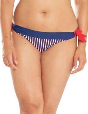 CS4715 Curvy Kate Ahoy Tie Side Bikini Brief - CS4715 Nautical Stripe