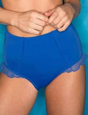 62003 Pour Moi Mesh It Up Control Bikini Brief - 62003 Ultramarine