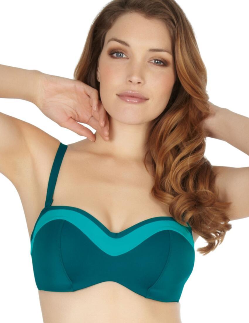 SW0763 Panache Isobel Bandeau Bikini Top Emerald - SW0763 Bandeau top