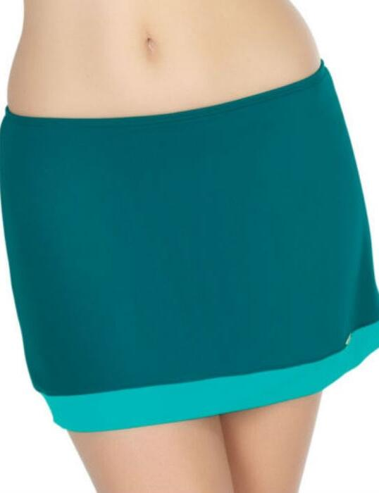 SW0768 Panache Isobel Skirted Bikini Pant Emerald - SW0768 Skirted Brief