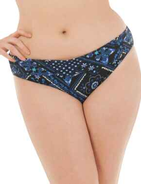 CS4325 Curvy Kate Free Spirit Fold-Over Bikini Brief - CS4325 Blue Mix