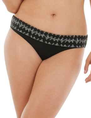 CS4425 Curvy Kate Euphoria Fold Over Bikini Brief - CS4425 Monochrome