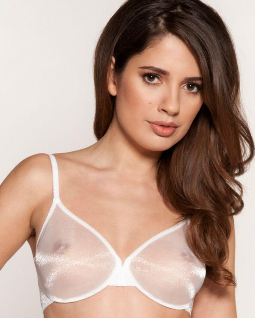 6271 Gossard Glossies Sheer Bra - 6271 White