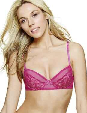 357005 Ultimo Estelle Balcony Bra - 357005 Hot Pink (Magenta)