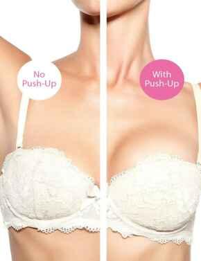 Freebra Push-Up Cleavage Boost Bra Pads Clear - Clear (Transparent)