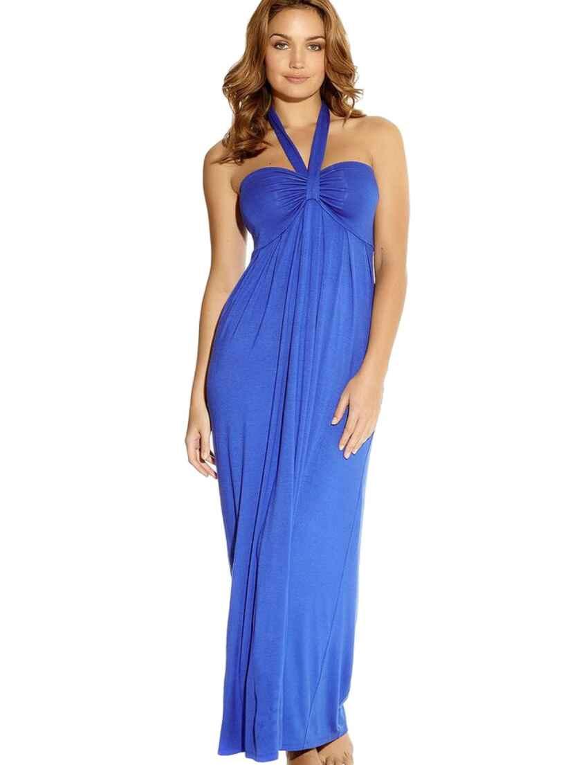 eb0b59801ad92 Outlet · 5018 Fantasie Aphrodite Halterneck Maxi Dress - 5018 Mediterranean  Blue