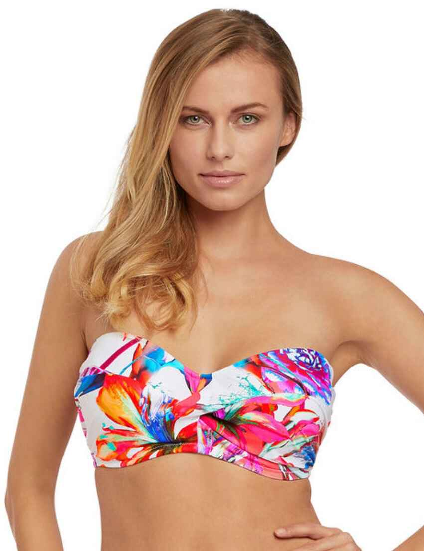 7b73b9ec4b Save · 6476 Fantasie Paradise Bay Underwired Twist Bandeau Bikini Top -  6476 Multi
