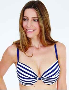 1742600 Lepel Beach Life Twist Plunge Bikini Top - 1742600 Navy/Cream