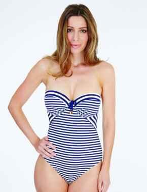 1742820 Lepel Beach Life Balcony Swimsuit - 1742820 Navy/Cream
