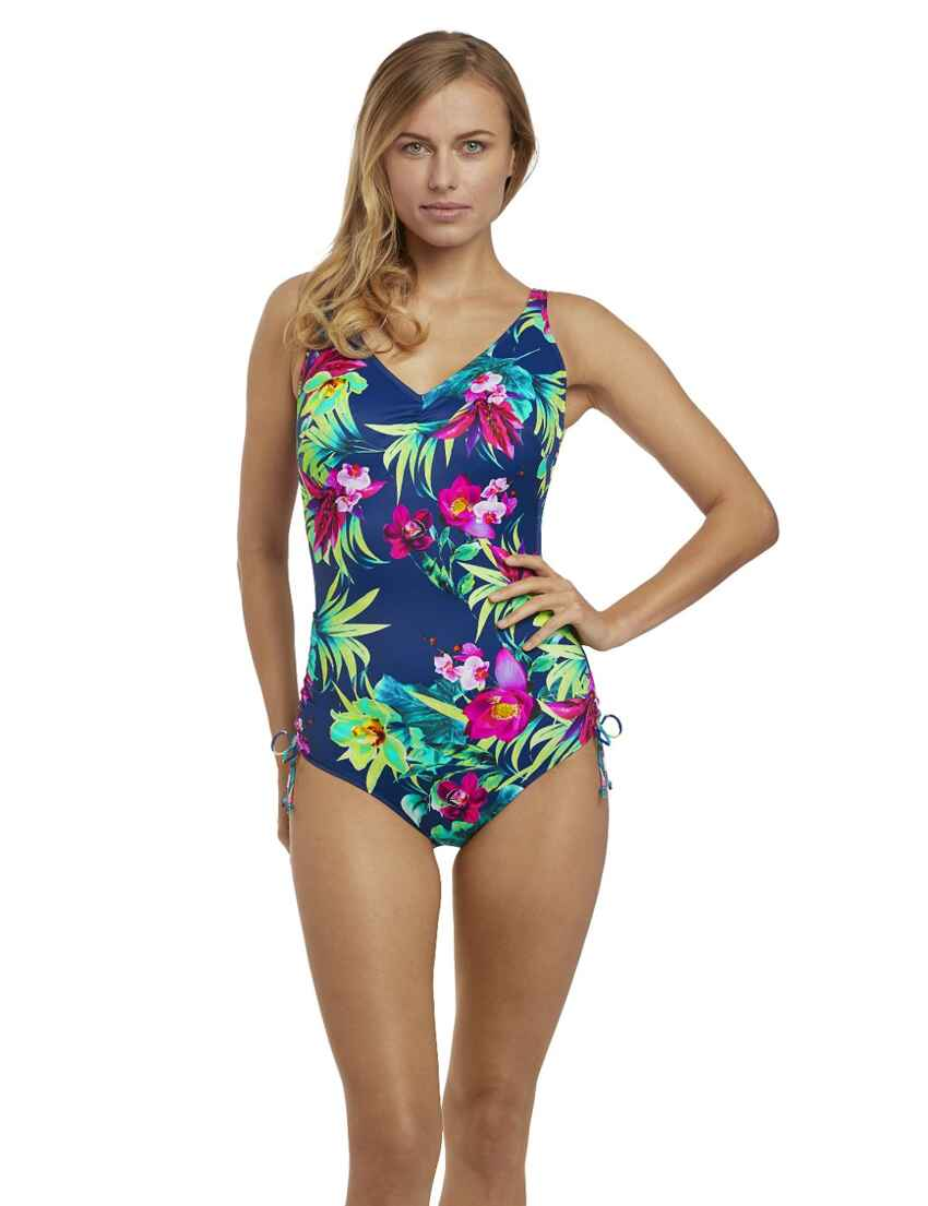 7854fcc8f9913 Save · 6533 Fantasie Amalfi Underwired V-Neck Suit with Adjustable Leg -  6533 Multi