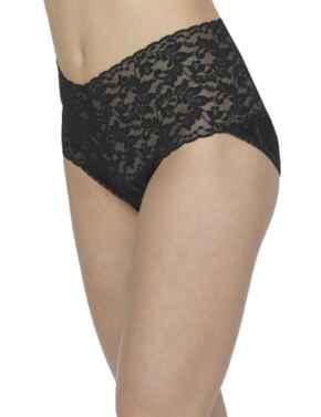 9K2124 Hanky Panky Retro Lace Short  - 9K2124 Black