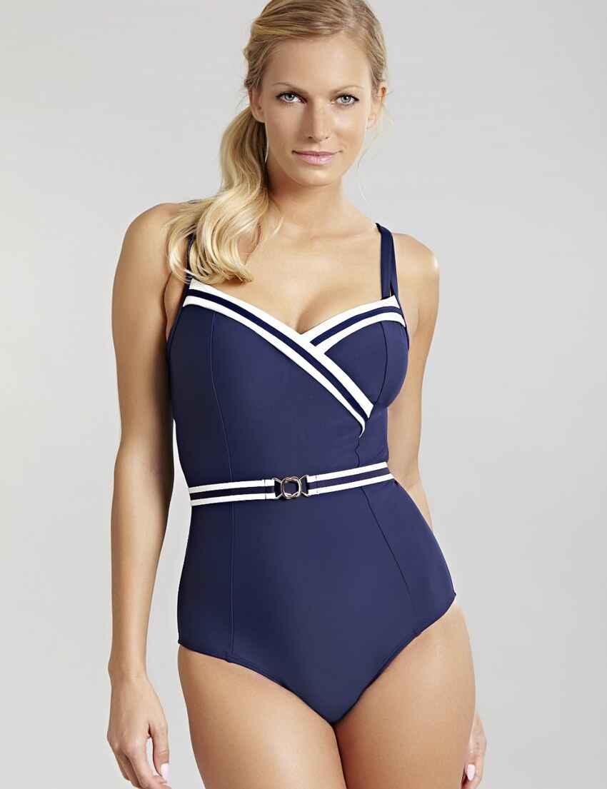 8391837f7e83c Save · SW1210 Panache Portofino Swimsuit - SW1210 Navy Ivory