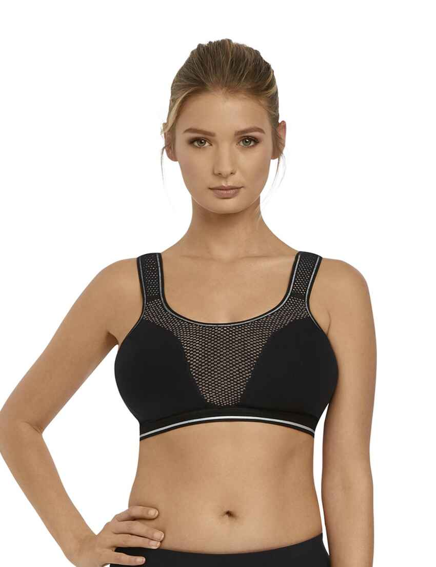 e0ba6110bcda1 Save · 4000 Freya Force Crop Top Soft Cup Sports Bra - 4000 Nero Black