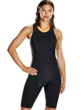 811440C138 Speedo Fit Neoprene Pro Swimsuit - 811440C138 Black/Orange