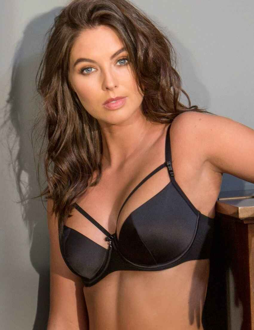 78e447176aa93 Save · 11700 Pour Moi Dusk Lightly Padded Underwired Plunge Bra - 11700  Black