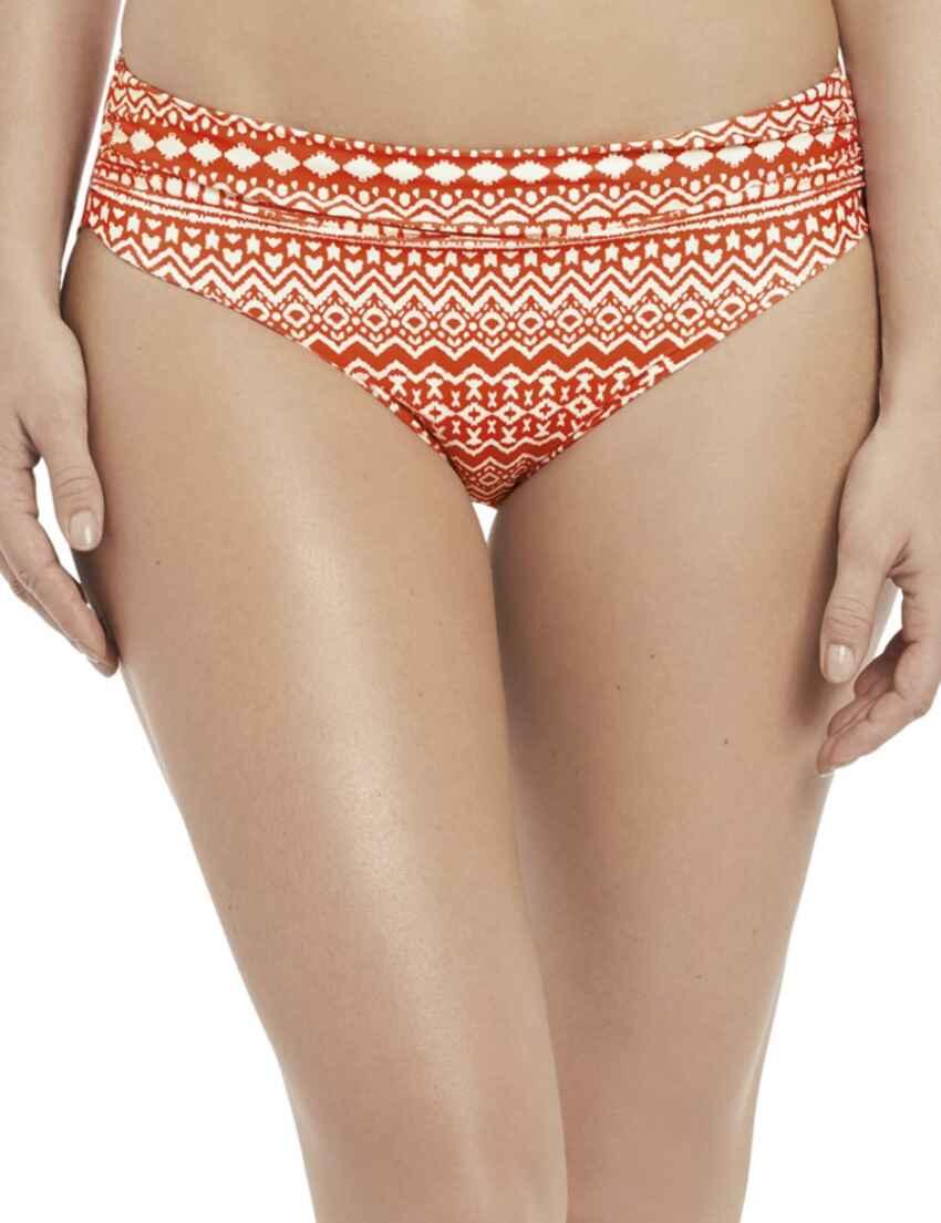 fc2fd80a79335 Save · 6421 Fantasie Sidari Mid Rise Gathered Bikini Brief - 6421 Grenadine