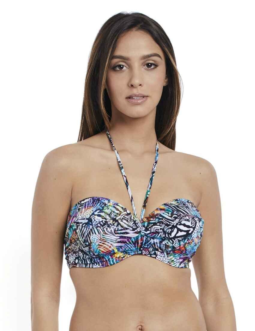 32efc7f2d8 Outlet · 2900 Freya Hot In Havana Underwired Twist Bandeau Bikini Top -  2900 Multi