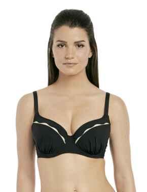 6232 Fantasie Sainte Maxime Moulded Bikini Top - 6232 Black/Cream
