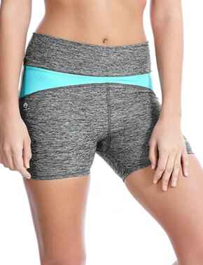 4019 Freya Active Reflective Speed Fitted Gym Short - 4019 Carbon