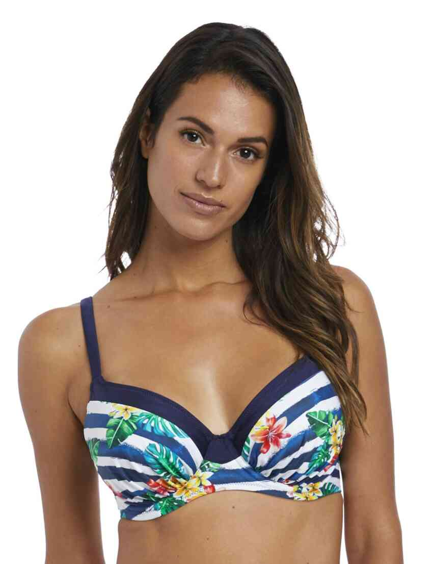 b59de3e85b 6670 Fantasie Porto Gathered Full Cup Bikini Top