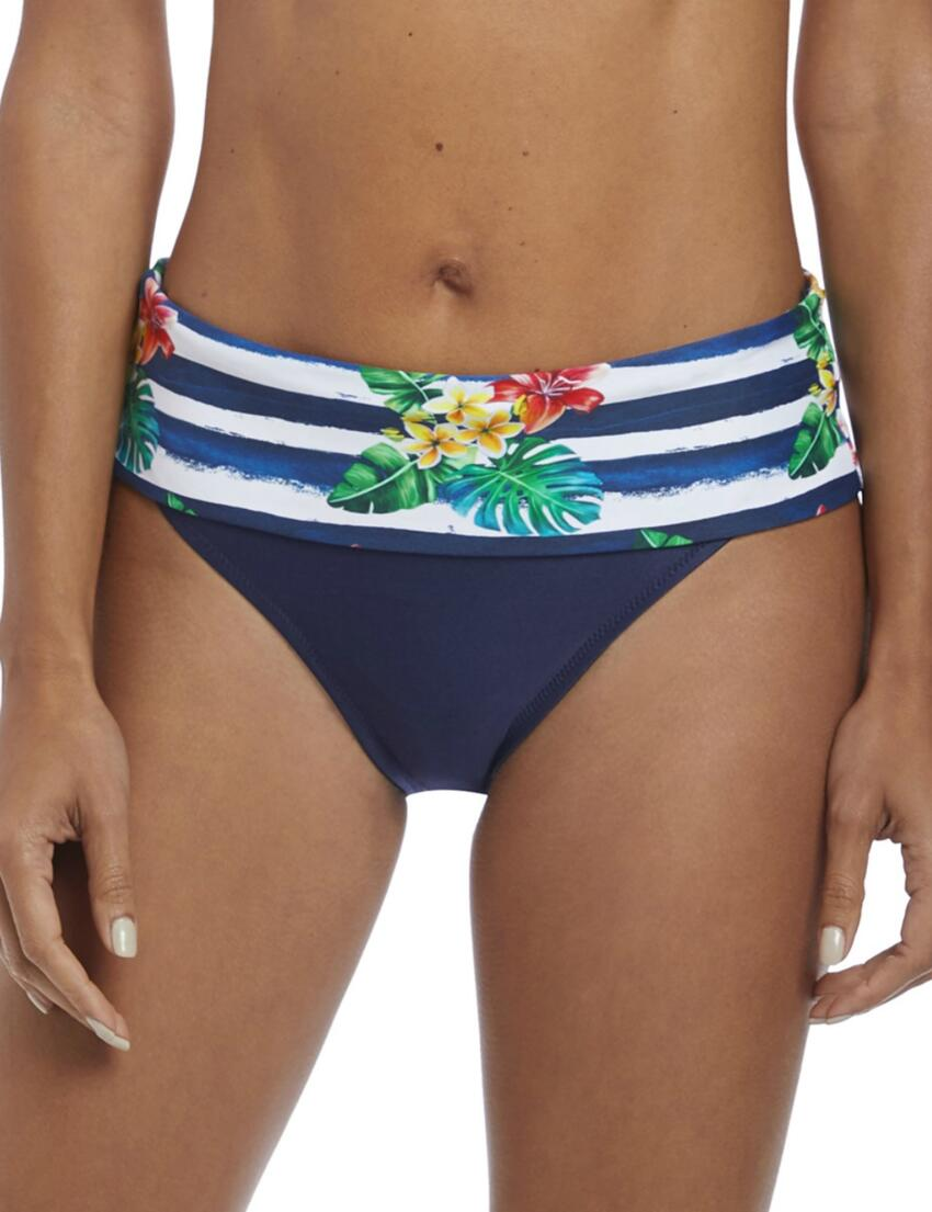 Fantasie Swimwear Marseille Mid Rise Brief Bottoms Pant 6685 Sunset Red