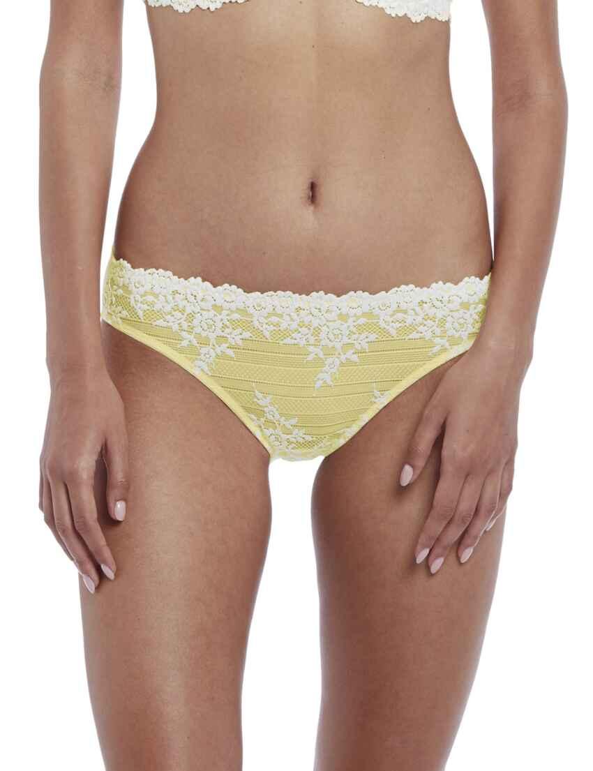 b6b66e9edebd Save · 064391 Wacoal Embrace Lace Bikini Style Brief - 064391 Lemon/Ivory