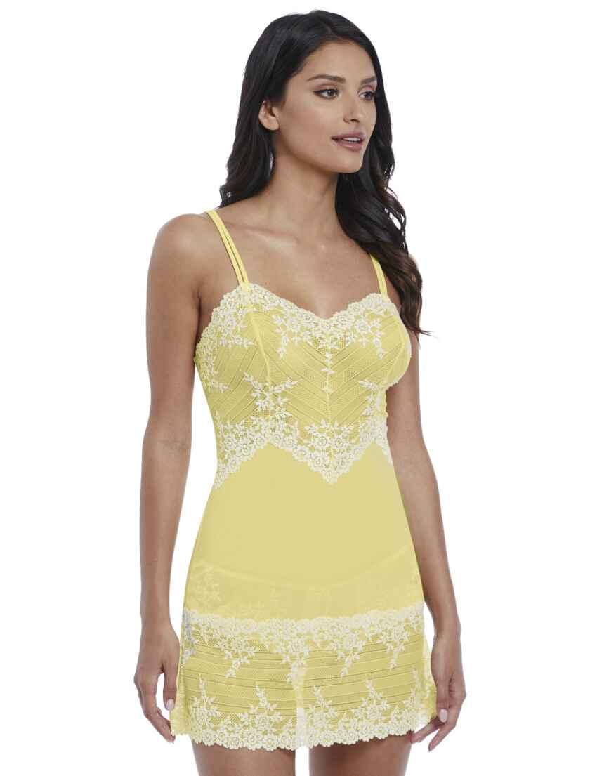 edc727380465 Save · 814191 Wacoal Embrace Lace Chemise - 814191 Lemon/Ivory