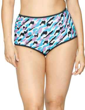 CS004505 Curvy Kate Miami Heat High Waist Bikini Brief - CS004505 Print Mix