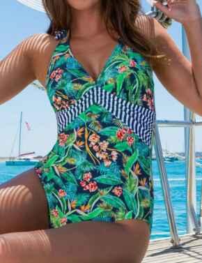 13407 Pour Moi Havana Breeze Halterneck Swimsuit - 13407 Multi