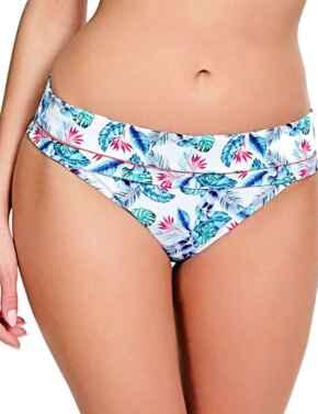 SW0878 Panache Elle Fold Bikini Brief White/Tropical - SW0878 White/Tropical
