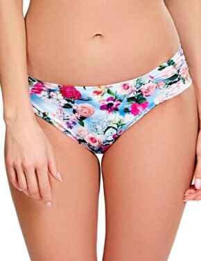 SW1149 Panache Alanis Gather Bikini Brief - SW1149 Blue/Floral
