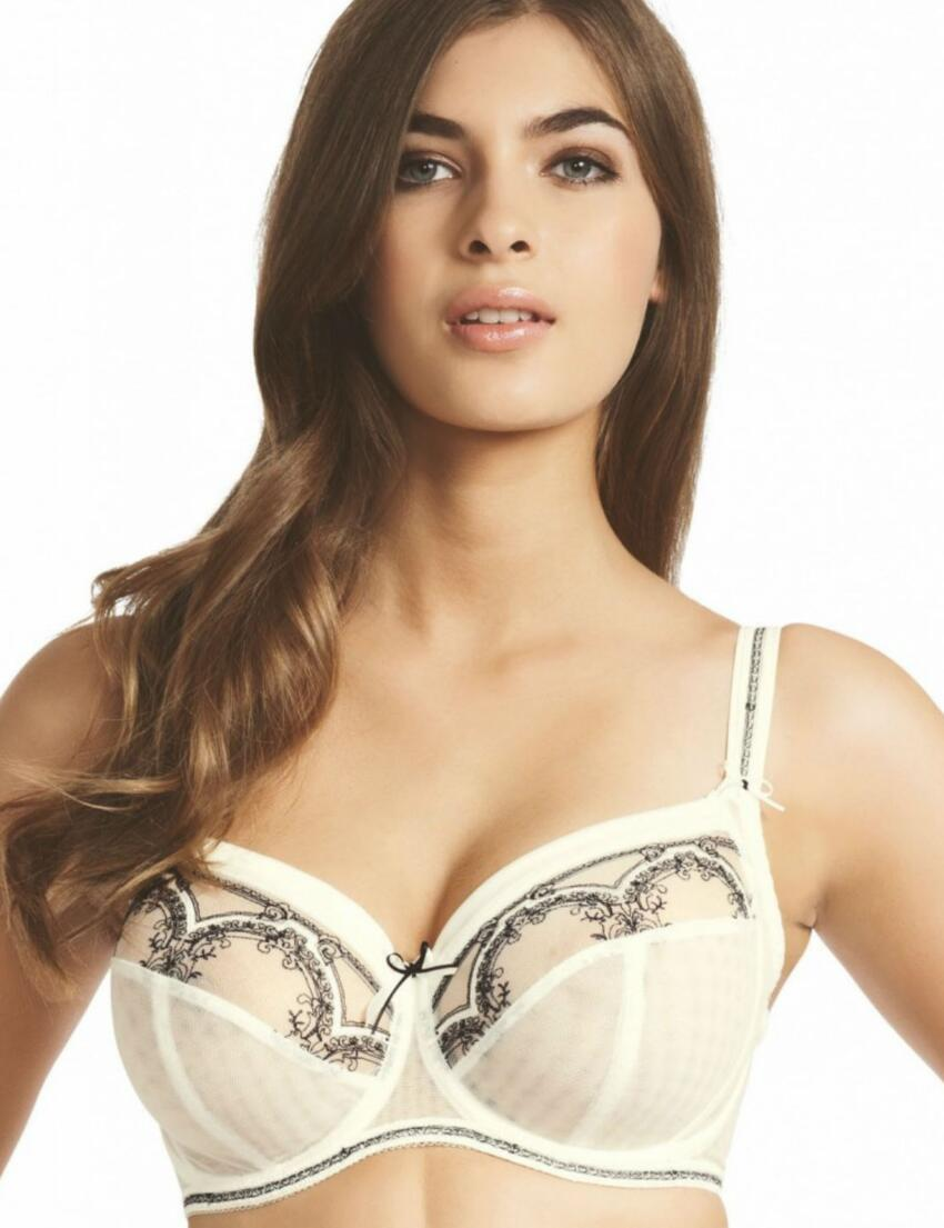 0382 Fauve Delphine Full Cup Side Support Bra - 0382 Ivory
