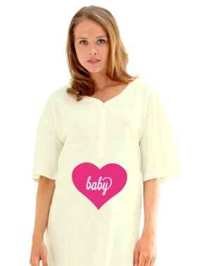 874 Emma Jane Maternity Nightshirt - 874 Lemon