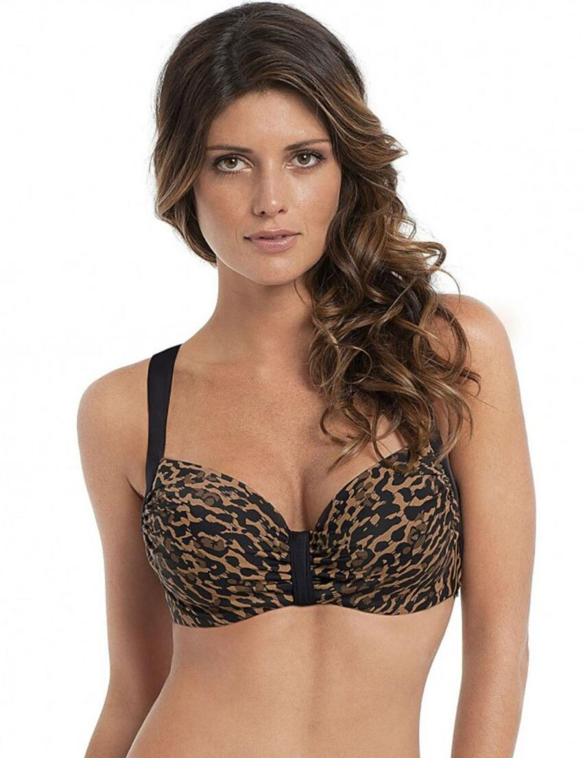 SW0782 Panache Savannah Moulded Bikini Top Animal  - SW0782 Bikini Top