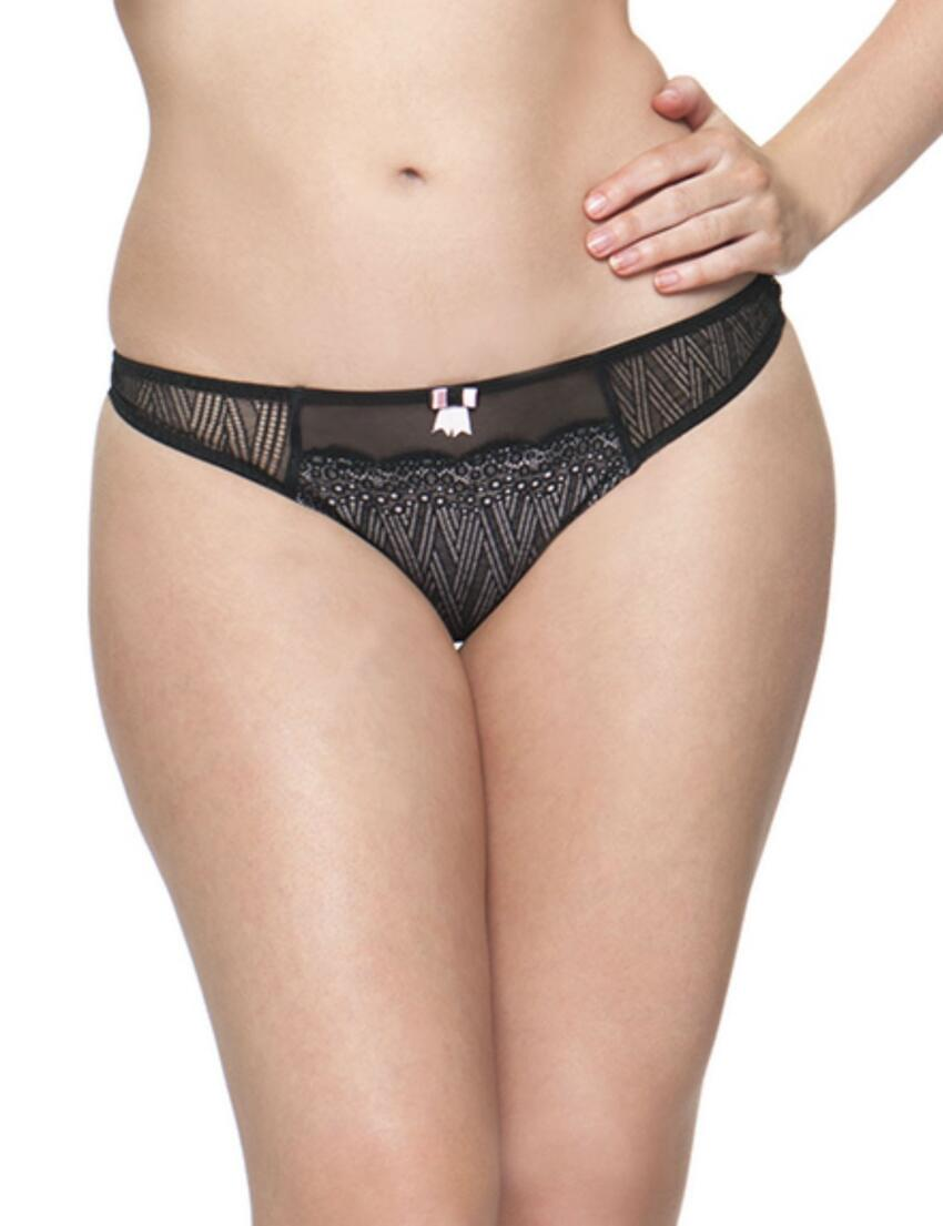 2302 Curvy Kate Roxie Thong Black/Sherbet - 2302 Thong