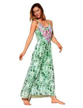 10195200 Triumph Floral Cascades Beach Dress - 10195200 Green/Dark Combination