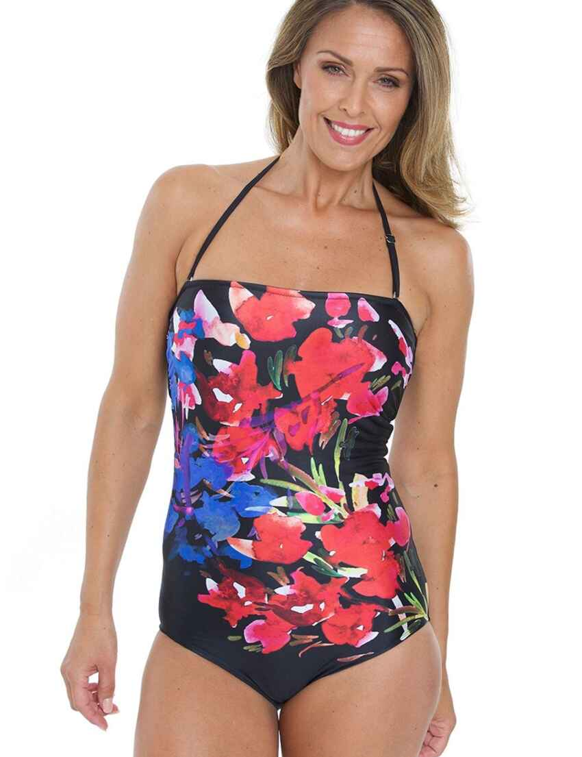 892a3fdac4cfc Save · 16-2340 SeaSpray Rio Bandeau Swimsuit - 16-2340 Black/Multi