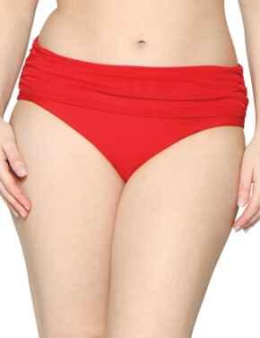 CS001512 Curvy Kate Sheer Class Deep Fold-Over Bikini Brief - CS001512 Red