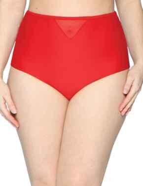 CS001505 Curvy Kate Sheer Class High Waist Bikini Brief - CS001505 Red