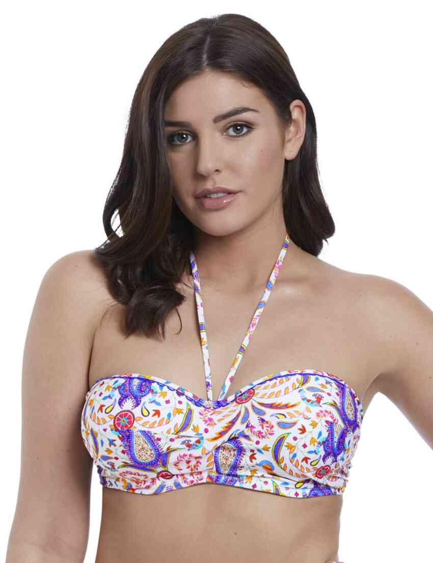 cb773562936 6640 Freya Indio Underwired Padded Twist Bandeau Bikini Top