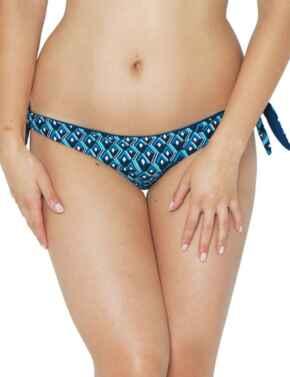 150502 Curvy Kate Wanderlust Tie Side Bikini Brief - 150502 Blue Mix