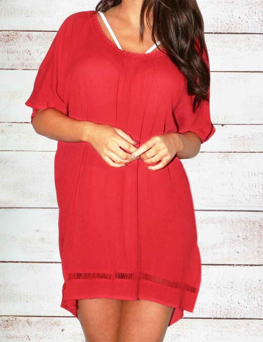 c8141b5732 13933 Pour Moi Santa Monica Cover Up - 13933 Red