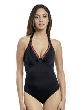 2961 Freya Mariachi Padded Halter Swimsuit - 2961 Black