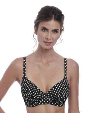 6720 Fantasie Santa Monica Full Cup Underwired Gathered Bikini Top - 6720 Black/White