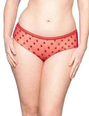 CK015201 Curvy Kate Top Spot Short Brief - CK015201 Red