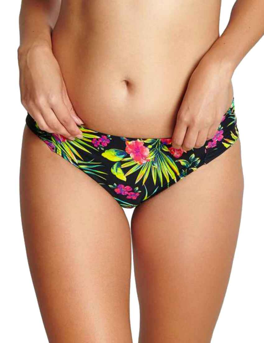 Panache Anya Twist Midi Bas De Bikini SW1299 Noir Palm