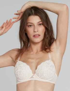 20242 LOU Belle De Lou Push-Up Plunge Bra - 20242 Nude