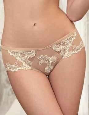 ACC0488 Lise Charmel Dressing Floral Shorty Brief - ACC0488 Ambre Nacre